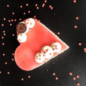 valentijns aardbeien taart bavaroise